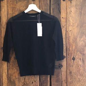 Vince Italian Yarn Mesh Sweater Extra-Small NWT